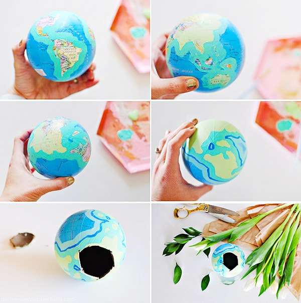 Crafting Steps Globe Flower Vase steps