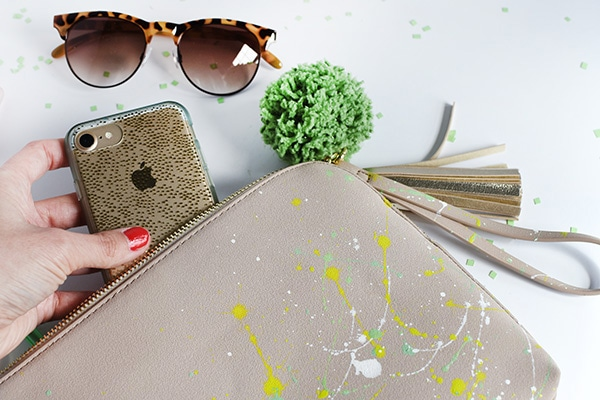 How to create a DIY Trendy Paint Splattered Clutch in no time at all! Delineate Your Dwelling