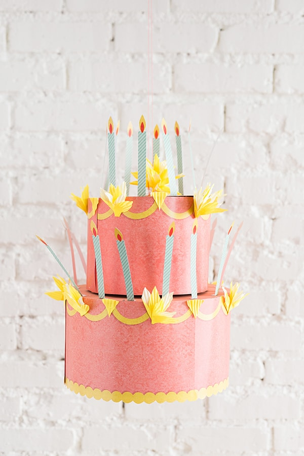 DIY-printable-birthday-crown coral, peach and orange