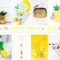 1 Lemon, Yellow, Gold DIY crafts