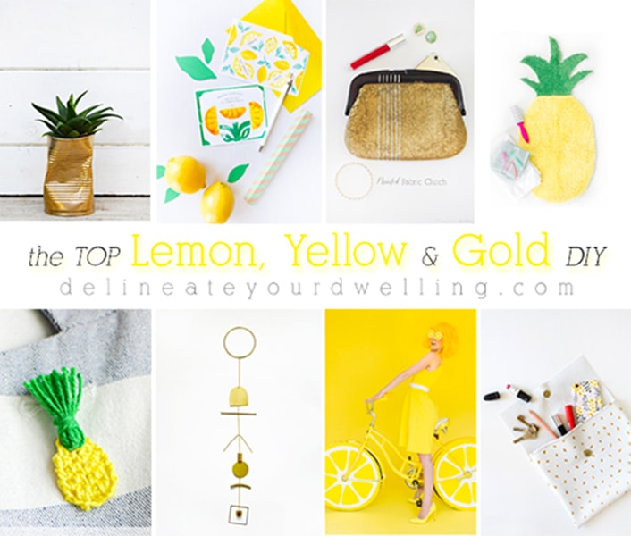 The Top Lemon, Yellow and Gold DIY Crafts