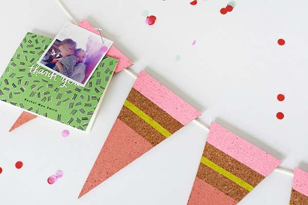 Pretty Organizing never looked so good! Easy to create DIY Colorful Cork Pennants, Delineate Your Dwelling