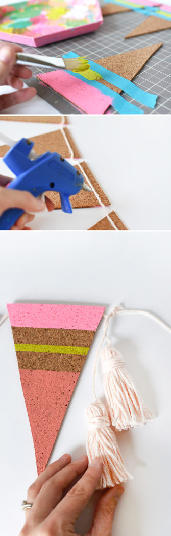 DIY Cork Pennant steps 2