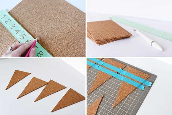 DIY Cork Pennant steps