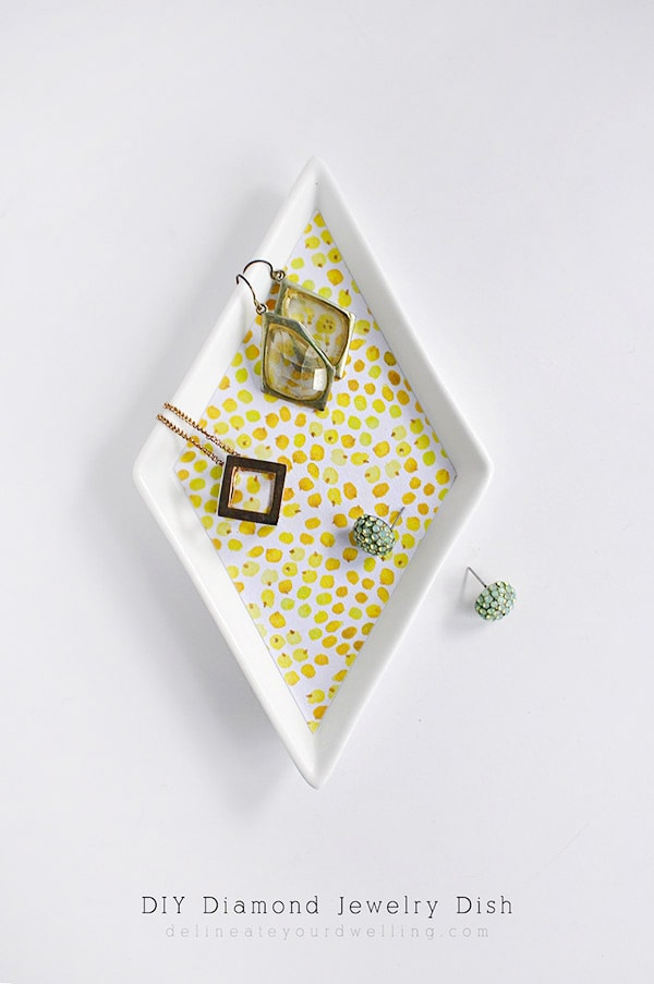 Yellow DIY-Diamond-Jewelry-Dish