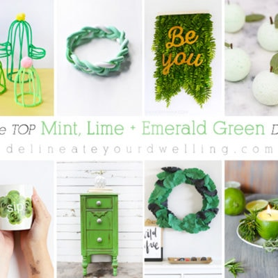 1 Mint, Lime and Emerald Green DIY crafts