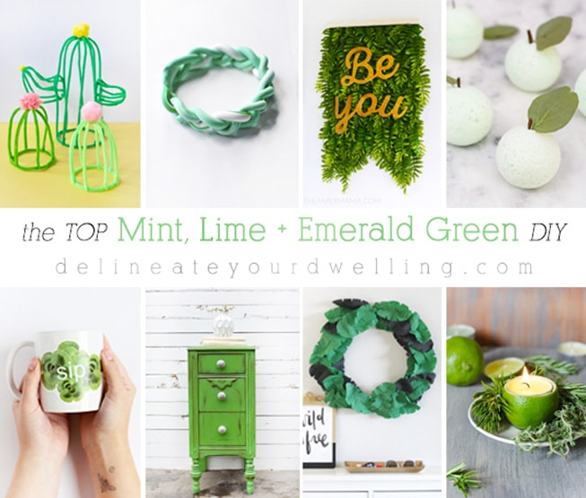 The Top Mint, Lime and Emerald Green DIY Crafts