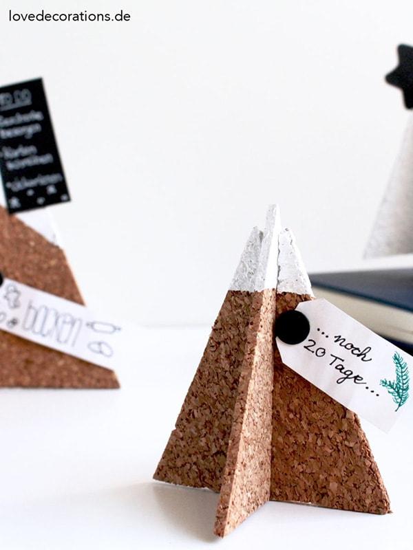 Cork 3D-Tannenbaum-Pinnwand