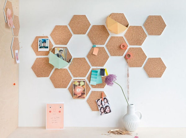 Cork hexagon board