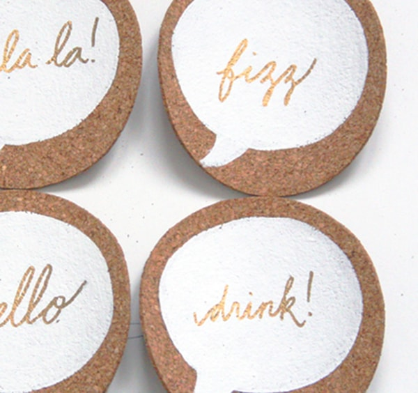 DIY-Cork-Conversation Coasters