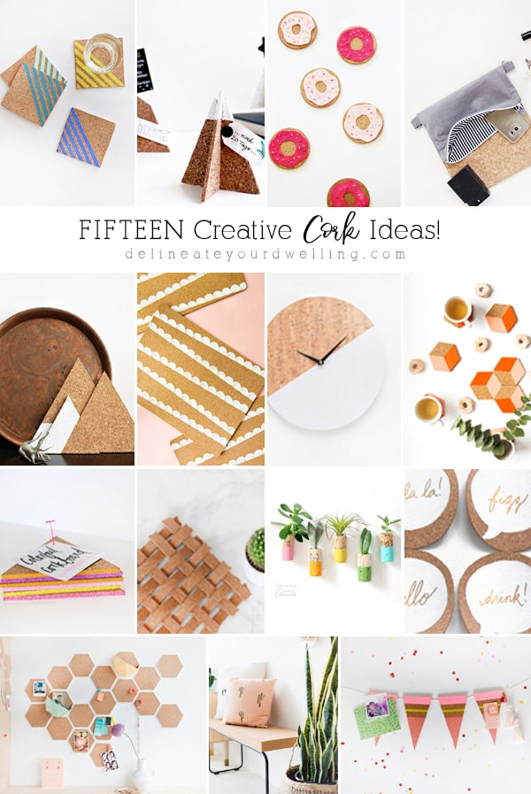 DIY Creative Cork Ideas | Bulletin Board, Placemats and more from @DelineateYourDwelling