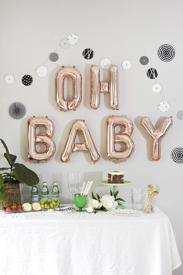 Fun Modern Woodland themed Baby Shower, Party, Event, Decor | @Delineateyourdwelling