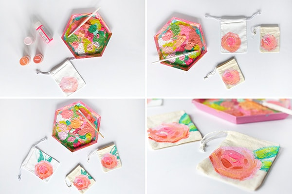 Peony-Painted-Bag-steps