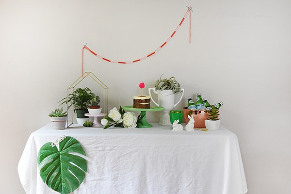 How to create the perfect Spring Tablescape using plants! @Delineateyourdwelling