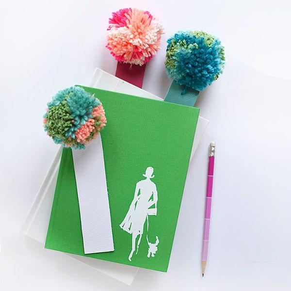 1-DIY-Leather-Pom-Pom-Bookmarks