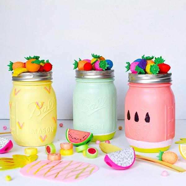 Summer Fruit Mason Jar