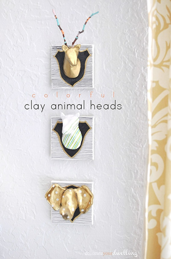 Fun and easy to make Clay Animal Heads! Delineate Your Dwelling