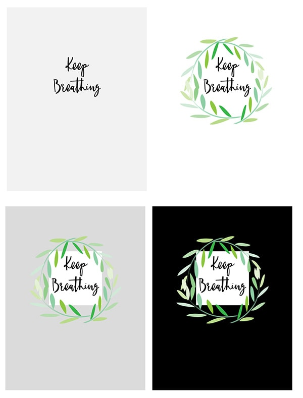 Keep Breathing Free printable, Delineate Your Dwelling