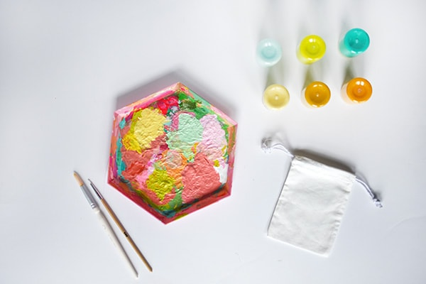 Lemon Painted Bags supplies