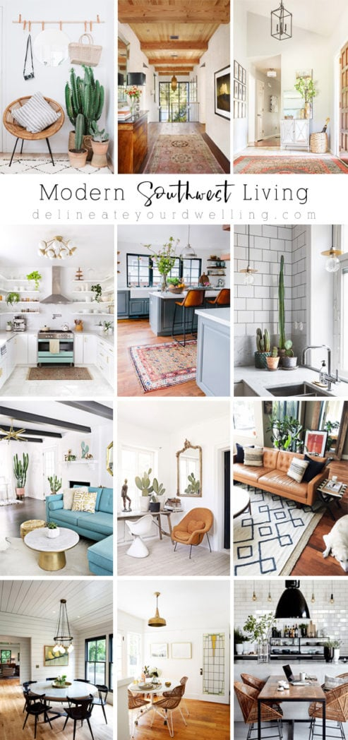Clean, Simple and Modern Southwest Living Inspiration and Ideas! Delineate Your Dwelling