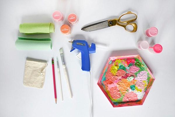 Peach-Painted-Bag-supplies