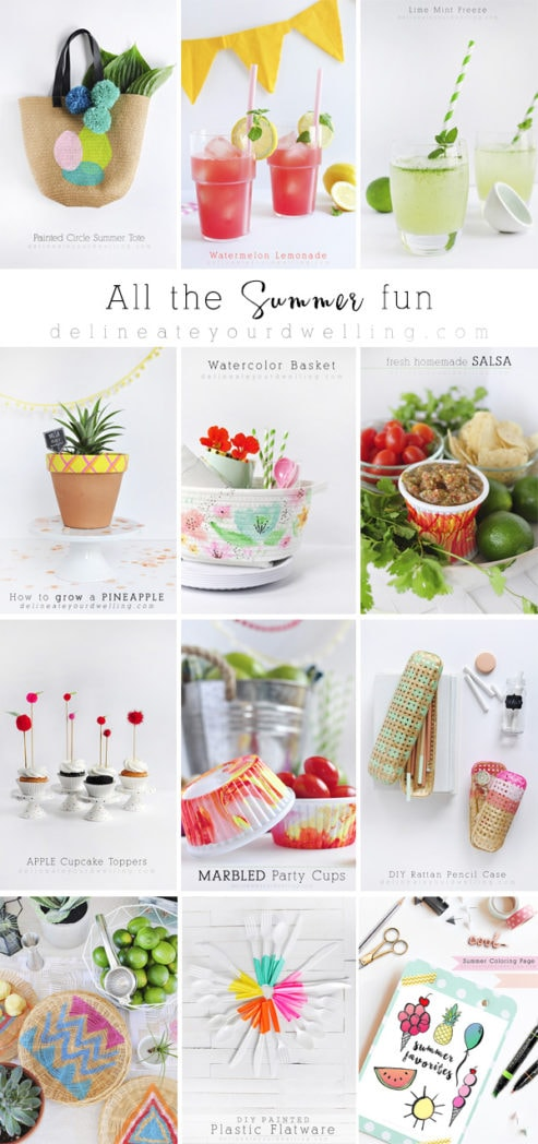 All summer, all the fun! Create tasty refreshing drinks, summer loving crafts and cheerful decor! Delineate Your Dwelling