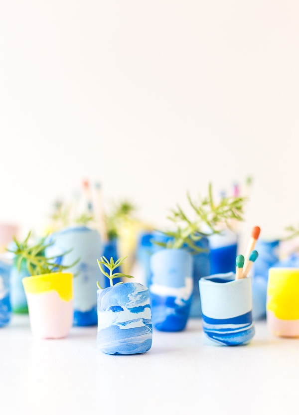 blue how-to-make-marbled-mini-planters-diy-clay