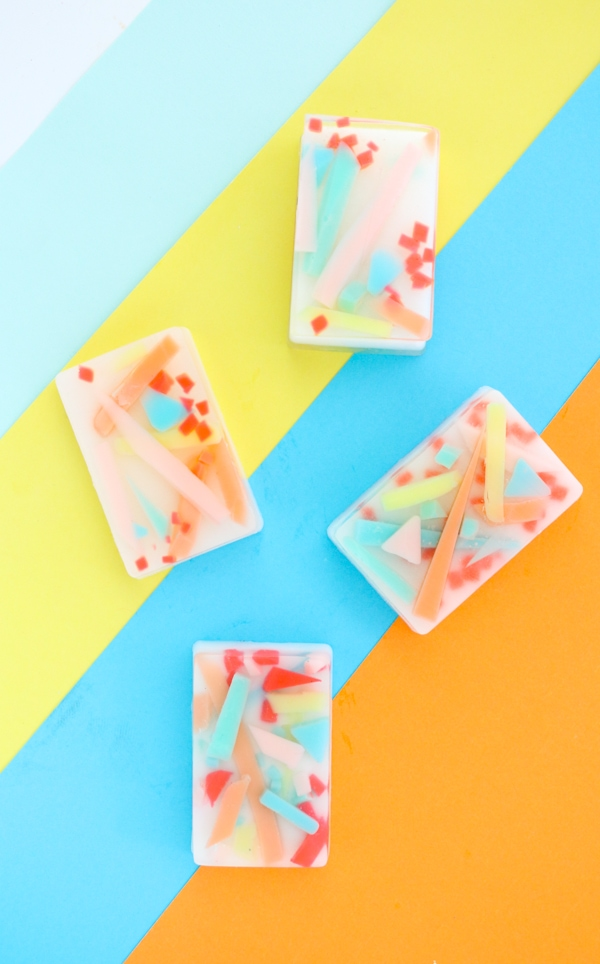 Colorful Abstract Art Soap