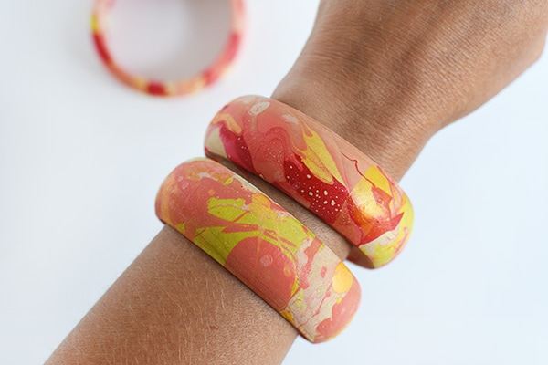 Colorful Marbled Bangles 2