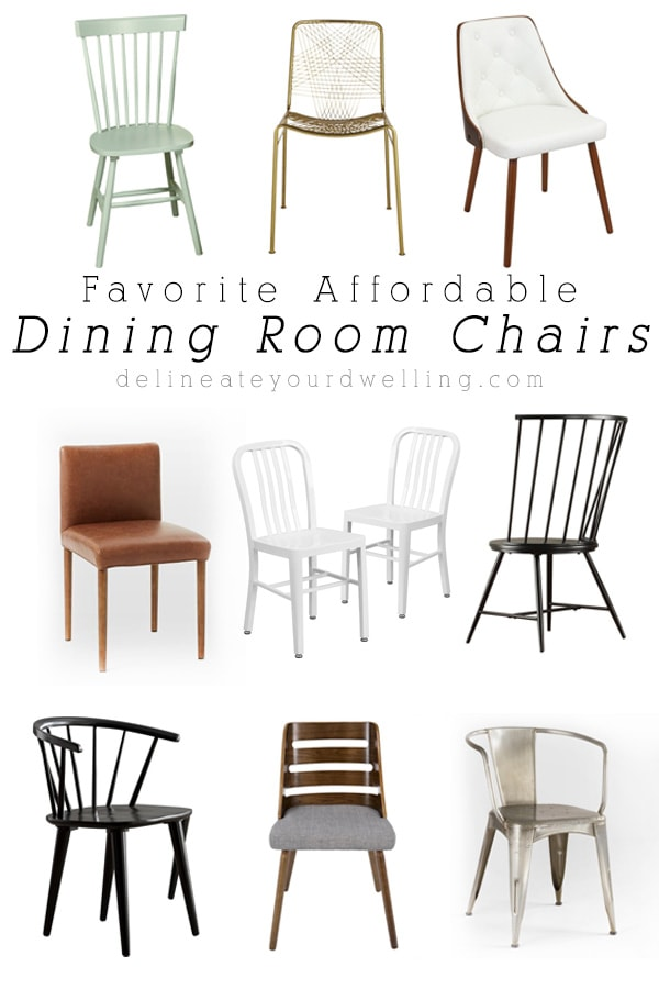 Favorite Affordable and Inexpensive Dining Room Chairs, Delineate Your Dwelling