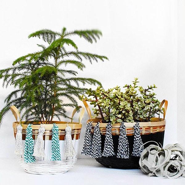 Baker's Twine Tassel Baskets