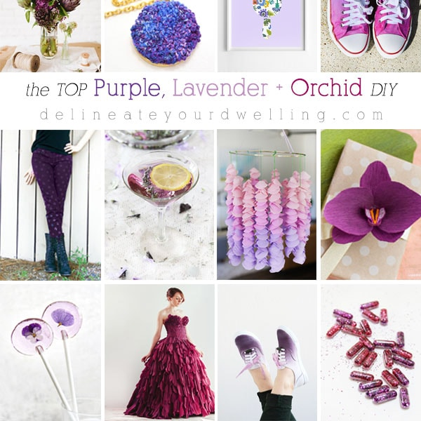 The Top Purple, Orchid and Lavender DIY Crafts