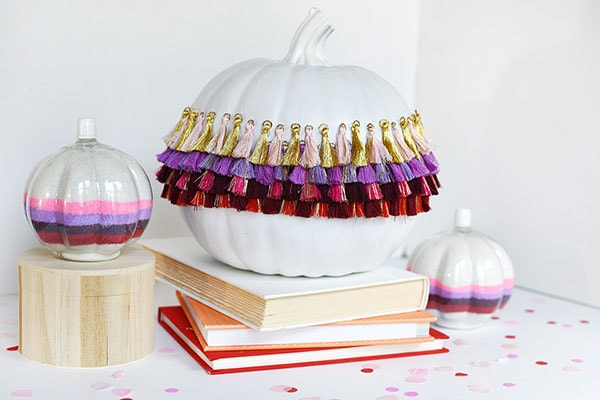 Tips on how to create simple DIY Tassel Pumpkins! Delineate Your Dwelling