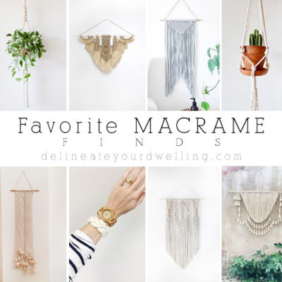 1 Favorite Macrame Finds