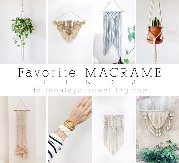 Favorite Macrame Finds