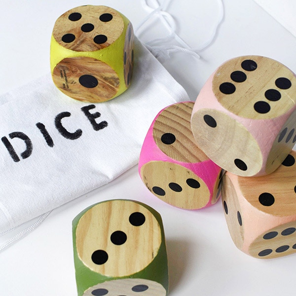 1 Outdoor DIY Colorful Dice