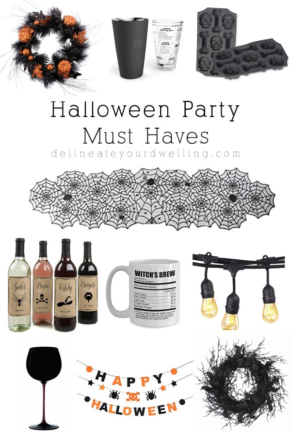Fun and Inexpensive Halloween Party Must Haves! From wreaths, to table runners and glassware - there is something for everyone! Delineate Your Dwelling
