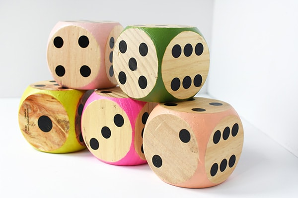 Such fun to play with these Large DIY Colorful Dice! #dice Delineate Your Dwelling