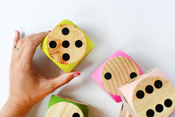 Such fun to play with these Large DIY Colorful Dice! #dice #game Delineate Your Dwelling