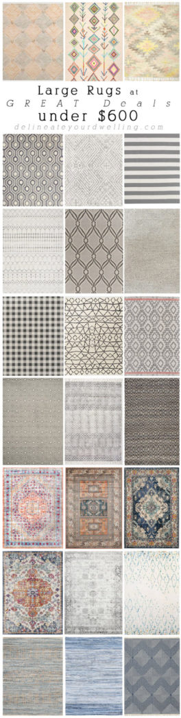 Amazing Large Rugs at Affordable Deals under $600! Delineate Your Dwelling