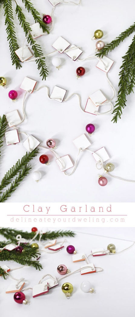 DIY Clay Garland, simple and elegant! Delineate Your Dwelling