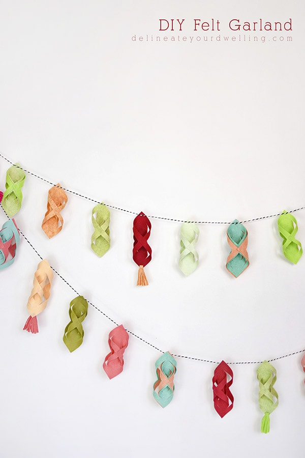 Simple to make DIY Felt Garland, Delineate Your Dwelling