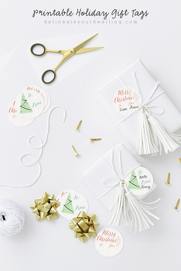 Printable Holiday Gift Tags - Delineate Your Dwelling