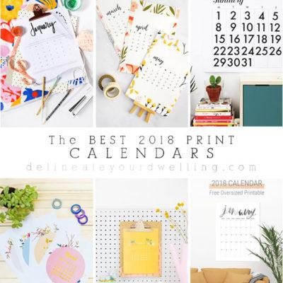 1 2018 BEST Print Calendars