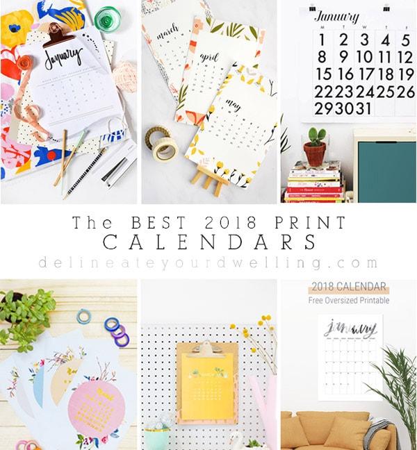 Best 2018 Print Calendars