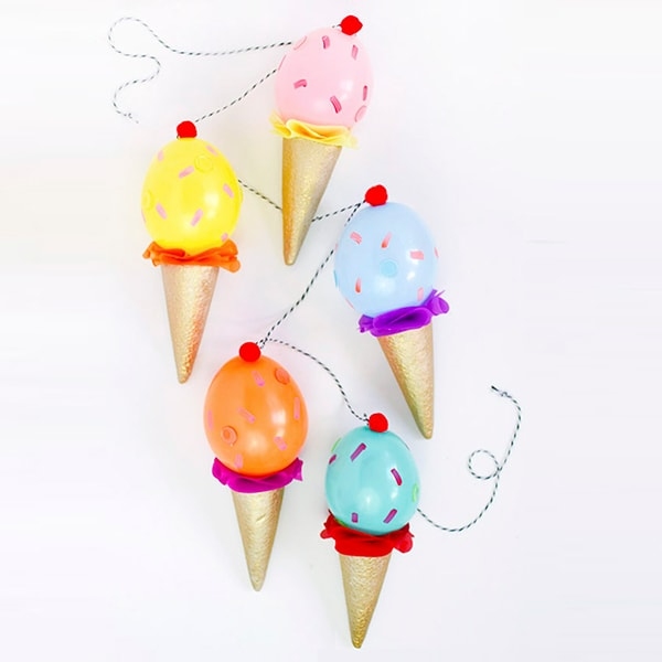 Ice Cream Cone Party Garland