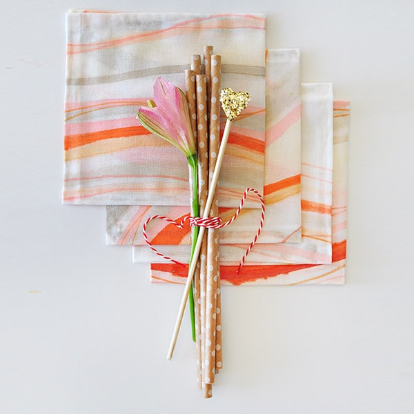 DIY Hand Painted Napkins