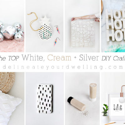1 White, Cream and Silver DIY crafts