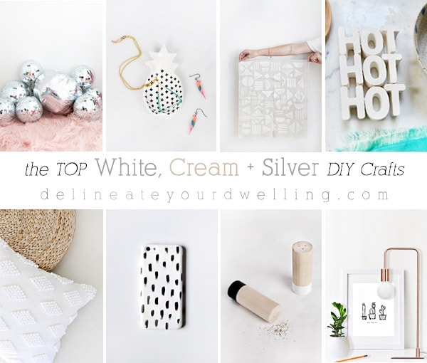 The Top White, Silver and Cream DIY Crafts