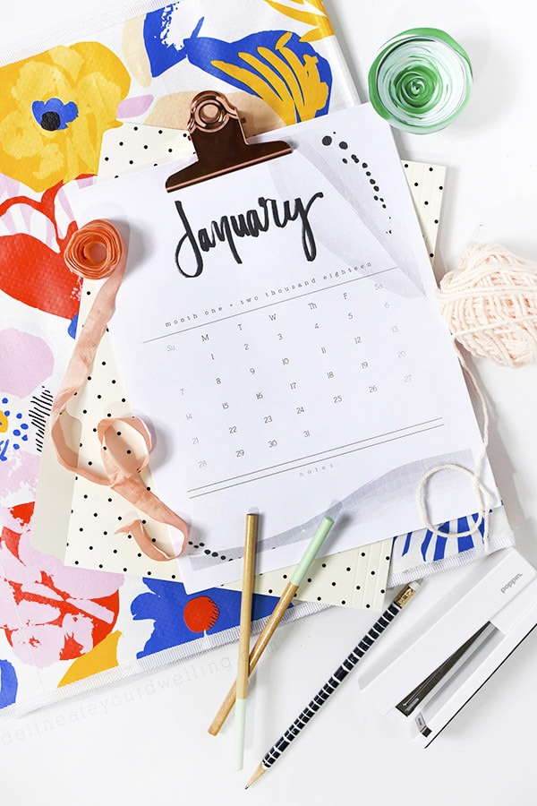 2018 FREE Hand Lettered Calendar, Top Reader Creative, Craft, Home Decor 2017 Posts, Delineate Your Dwelling